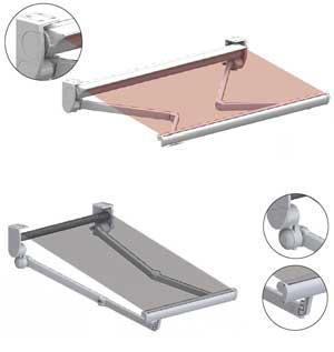 modelos con brazos extensibles elaborados ntegramente en europa en aluminio y telas de la ms alta calidad dan una larga vida til a su toldo valorizando